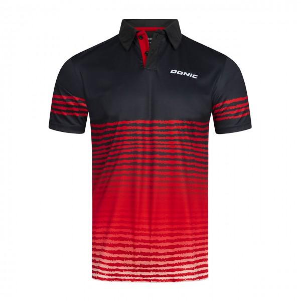 DONIC Tischtennis Poloshirt Libra schwarz/rot  Brust