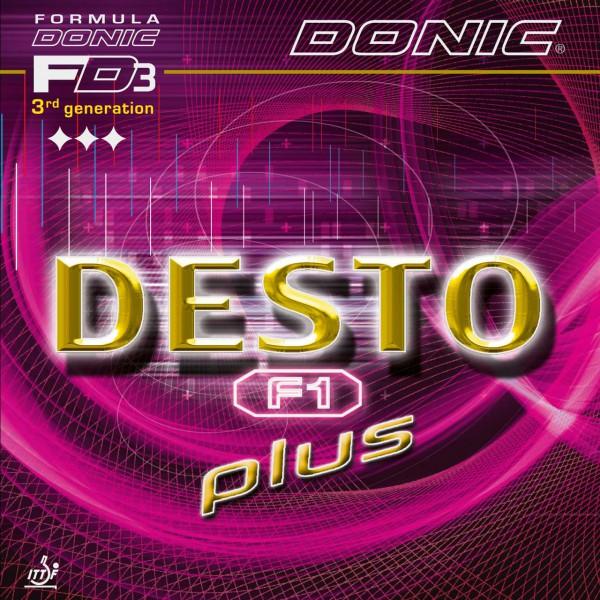 Tischtennis Belag DONIC Desto F1 Plus Cover
