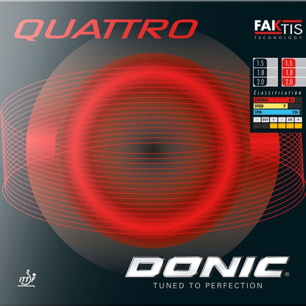 Tischtennis Belag DONIC Quattro Cover