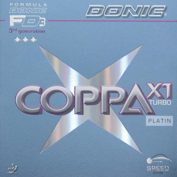 Tischtennis Belag DONIC Coppa X1 Turbo Platin Cover