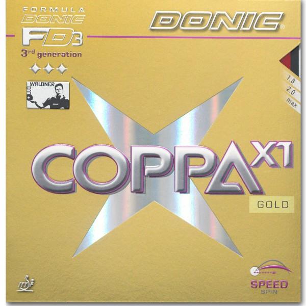 Tischtennis Belag DONIC Coppa X1 Gold Cover