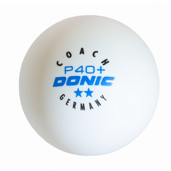 Tischtennis Trainingsball DONIC Coach P40+ ** Cell-Free