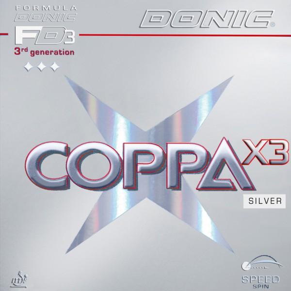 Tischtennis Belag DONIC Coppa X3 Silver Cover