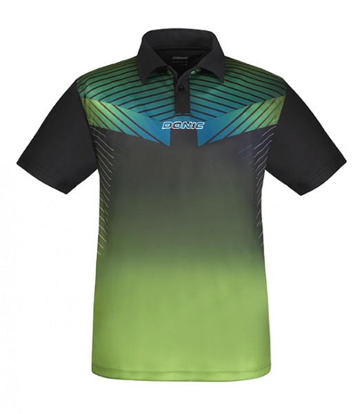 DONIC Poloshirt Boost lime/schwarz