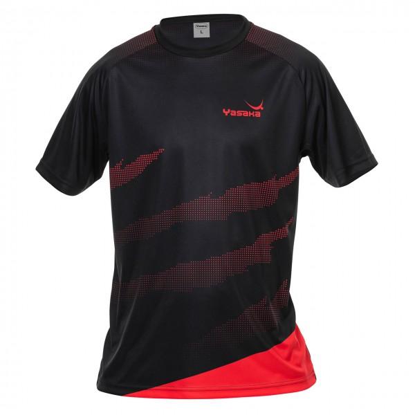 Tischtennis T-Shirt YASAKA Callisto schwarz-rot