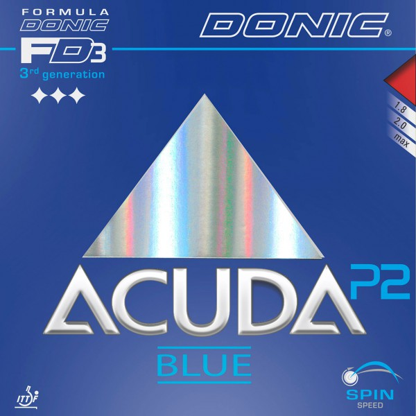 Tischtennis Belag DONIC Acuda Blue P2 Cover