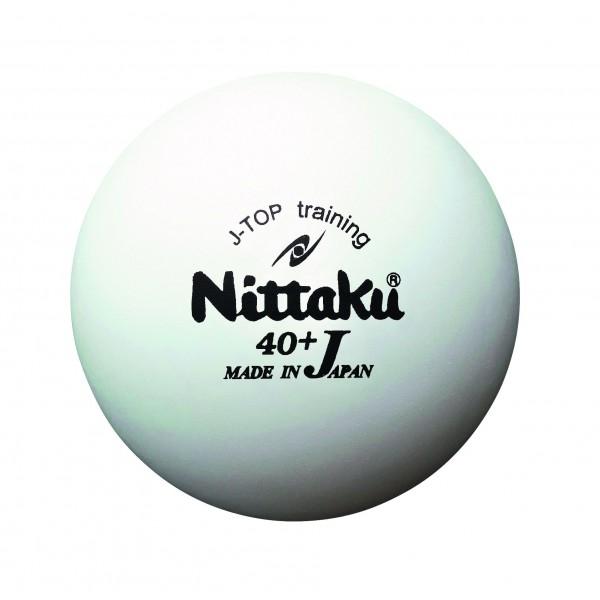 Tischtennis Trainingsball Nittaku J-Top 40+ weiß