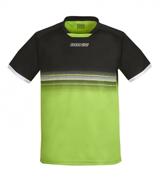DONIC T-Shirt Traxion schwarz/lime
