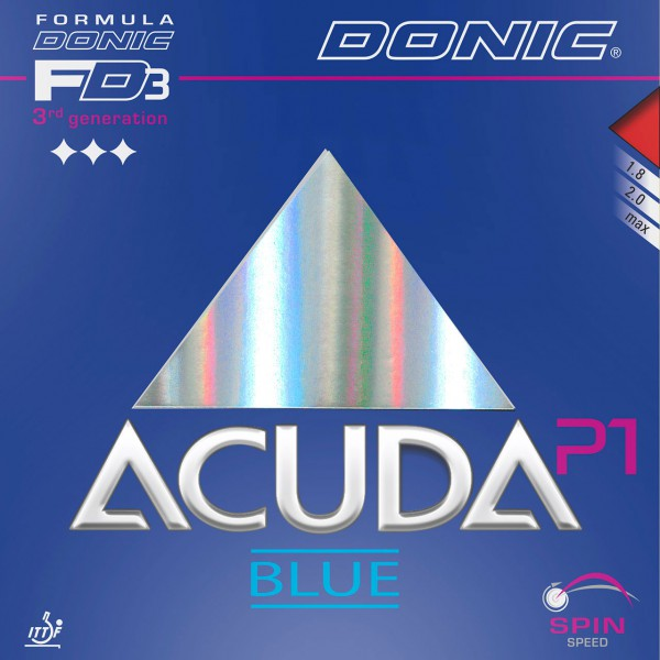 Tischtennis Belag DONIC Acuda Blue P1 Cover