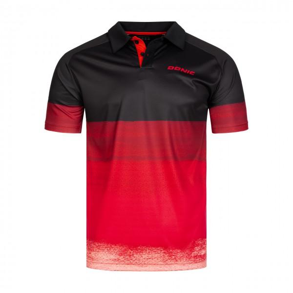 Tischtennis DONIC Poloshirt Force rot Brust