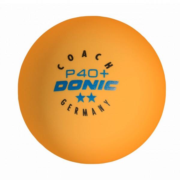 Tischtennis Trainingsball DONIC Coach P40+ ** Cell-Free orange
