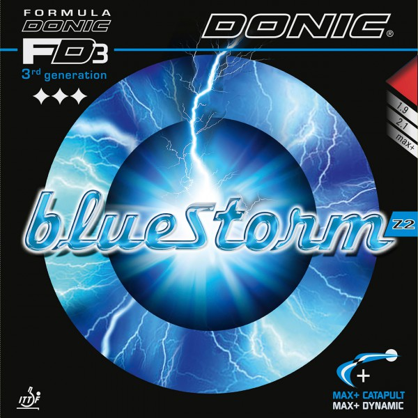 Tischtennis Belag DONIC Bluestorm Z2 Cover