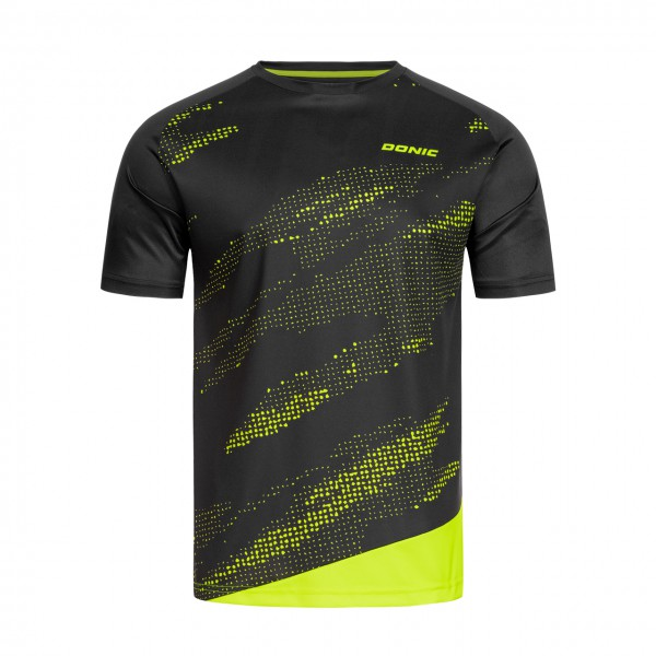 Tischtennis DONIC T-Shirt Mirage schwarz Brust