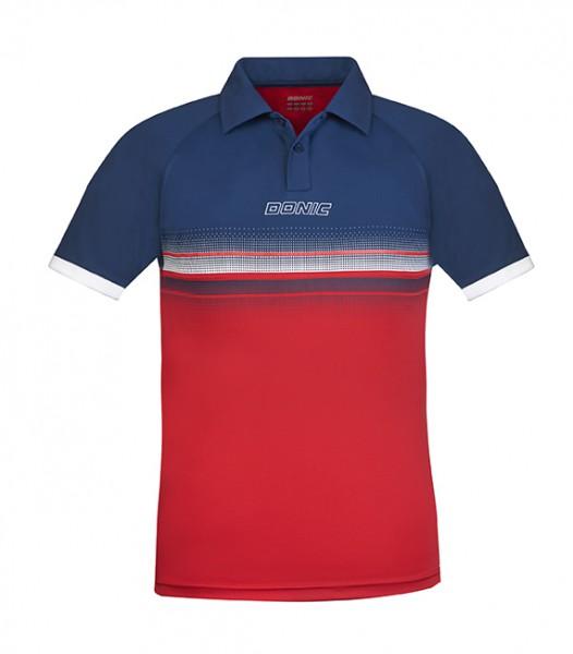 DONIC Polo-Shirt Draftflex rot/marine