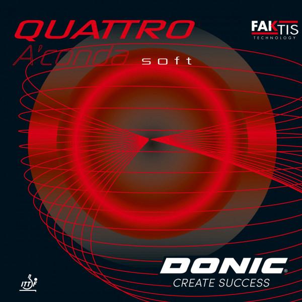 Tischtennis Belag DONIC Quattro A´Conda soft Cover