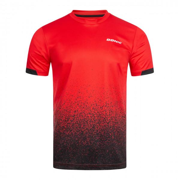 DONIC Tischtennis T-Shirt Split rot Brust