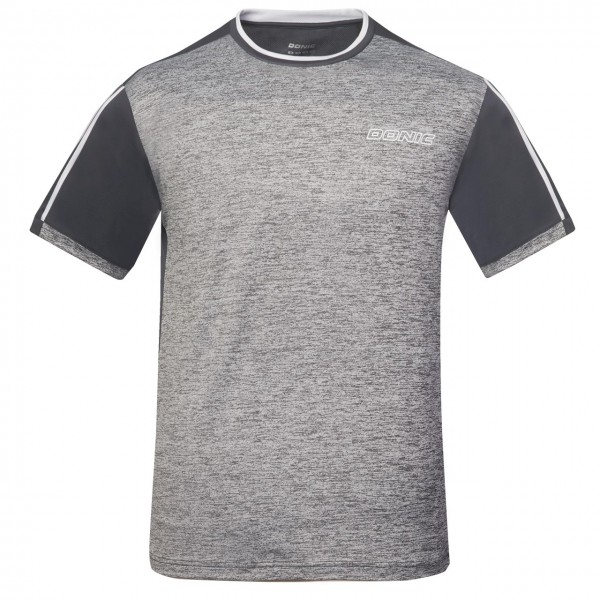 DONIC T-Shirt Melange Tee anthrazit Brust